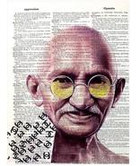 Art N Words Mahatma Gandhi Wearing Chanel Original Dictionary Page Pop A... - $21.00