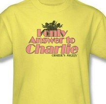 "Charlie's Angels t-shirt ""I only answer to Charlie"" retro TV graphic tee CA106 image 2"