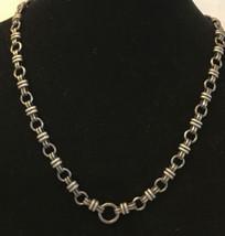 """Vintage Zik Zok  18"""" Long  necklace silver tone - $5.94"""