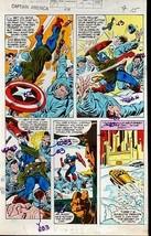 Original 1970's Captain America 238 page 15 Marvel Comics color guide ar... - $89.09