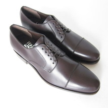 W-1500259 New Salvatore Ferragamo Rand Moro Leather Laced Shoe Marked Si... - $399.23 CAD