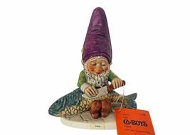 Goebel Gnome Figurine Hummel Co Boy Dwarf Germany vtg Fips Fish scaler k... - $74.25