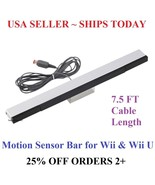 Wired Infrared Sensor Bar for Nintendo Wii Wii U Remote USA Seller  - $5.48
