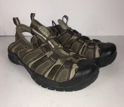Skechers Womens Sandals Brown Tan Khaki Hiking Outdoor Lifestyle Open Heel - $17.59