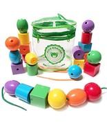 Kids Korner Lacing Stringing Beads - Fine Motor Montessori Toddler Toys ... - $21.97