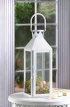 10 White Large Candle LANTERN Wedding Centerpieces - $189.18