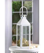 10 White Large Candle LANTERN Wedding Centerpieces - $189.18