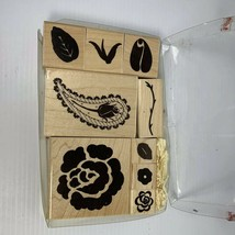 Close To My Heart Classic Rose 6016 Rubber Stamp Set - $3.99