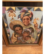 4 Generations of Women African American Framed Art Painting by Chad Hill... - $250.00