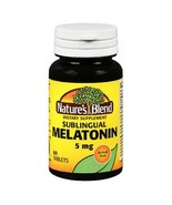 Melatonin, 5 mg, 60 Tabs by Natures Blend - $8.71