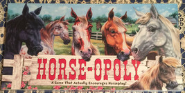 HORSE-OPOLY AN EQUESTRIAN THEMED MONOPOLY GAME EXCELLENT 100% PLUS - $5.71