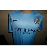 Blue Etihad Airways Manchester City Soccer Jersey Nike Adult M #5 Chase ... - $34.64