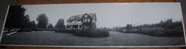 c1930 VINTAGE ARCHITECTURE HOUSE WELLSVILLE NY PANORAMIC PHOTO YARD - $24.74