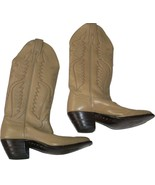 NEW Vintage JUSTIN Cowboy Western Boots bone Womens 5.5 A Narrow ladies tan - $126.10
