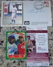 Bo Jackson Signed Autographed Baseball FDC Cachet & Sticker Card JSA AH ... - $157.41