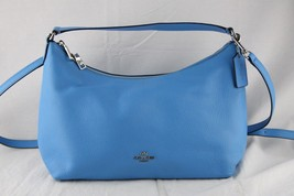Coach Blue Leather Shoulder/Crossbody Handbag - $102.84
