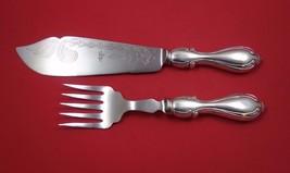 Ambassador Cutlery English Sterling Silver Fish Serving Set 2pc HHWS - $259.00