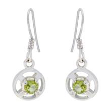resplendent Peridot 925 Sterling Silver Green Earring genuine jewellery ... - $25.73