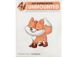 Art Impressions Freebie Fox Rubber Cling Stamp #CHA2015 image 1