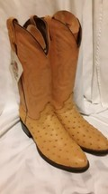Men'S Exotic Ostrish Print  Western Cowboy Boots By REBELDE Size USA 9.5 - $65.44