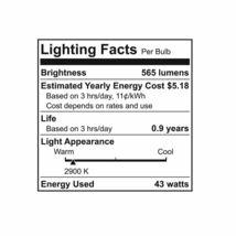 GE Reveal 43-Watt Energy Efficient Decorative Halogen Light Bulb (3pk) image 3