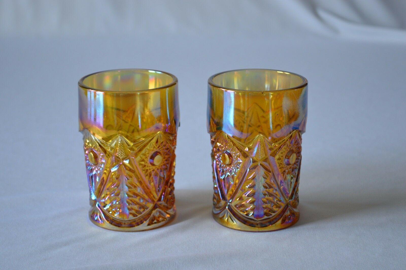 2 L E Smith Carnival Glass Valtec Tumblers image 3