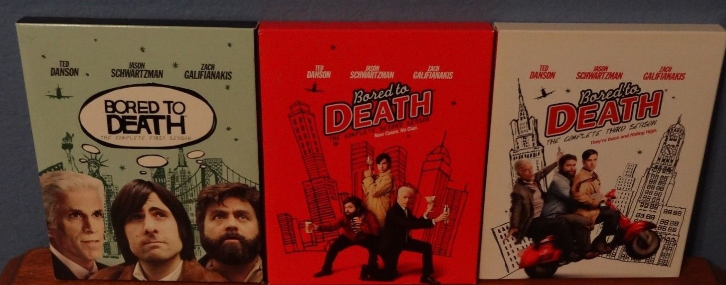 Bored to Death Complete Series Seasons 1 2 & 3 [DVD Sets New]