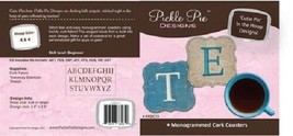 Monogrammed Cork Luggage Tags Pickle Pie Designs - $12.86
