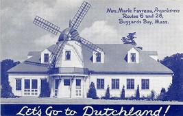 Dutchland Wind Mill Restaurant Route 6 Buzzards Bay Masachusetts postcard - $6.93