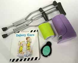 American Girl Doll Injury Care Set Crutches, Cast, Wrap, Ice Pack - $9.89