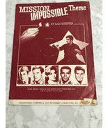 Mission Impossible Theme Sheet Music Song Book Lalo Schifrin Rare Vintag... - $10.00