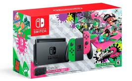 Nintendo Switch Hardware with Splatoon 2 + Neon Green/Neon Pink Joy-Cons... - $513.98