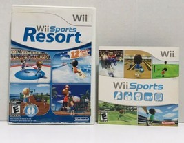 Wii Sports & Wii Sports Resorts 2 Games BUNDLE Wii Console Complete & Ex... - $31.88