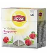 Lipton White Tea RASPBERRY tea -1 box/ 20 tea bags FREE SHIPPING DaMaGeD - $7.58