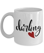 Darling Coffee Mug - Couple Mugs - Ceramic Cup - Lovers 11oz 15 oz Dishwasher Mi - $14.80