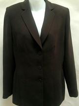 Anne Klein 8 Jacket Blazer Brown Business Medium New - $21.55