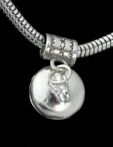 WOW New European bead charm authentic 925 Sterling Silver Curling 3D Dangle Jewe - $22.89
