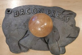 """Bacon Press - Cast Iron Pig with Handle - 5"""" x 8"""" - $7.84"""