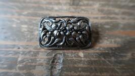 Vintage Silver Brooch Marked Metall 3.2cm - $11.88