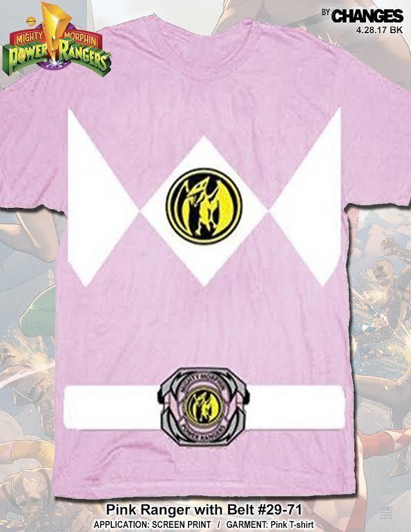 Mighty Morphin Power Rangers Pink Ranger Halloween Superheld Kostüm T-Shirt