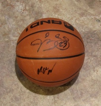 JIMMY BUTLER ANDREW WIGGINS DUAL AUTOGRAPHED BASKETBALL TIMBERWOLVES w/COA - £163.48 GBP