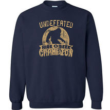 487 Undefeated Hide and Seek Champion Crew Sweatshirt sasquatch big foot new image 4