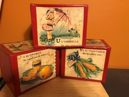 Vintage Childrens Cardboard Alphabet Blocks - $13.86
