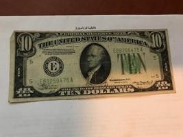 United States Hamilton $10 circulated banknote 1934 A #8 - $19.95