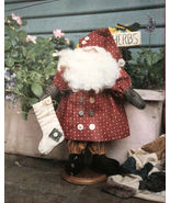 "Sewing Pattern ""Simply Santa""  Standing Decorative Christmas Doll about 13"" - $6.99"