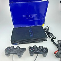 Sony Playstation 2 PS2 Console System SCPH-50001 complete in box VG+ con... - $98.01