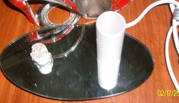 White Bow Tie Sandle Pewter High Heel Shoe Tea Light