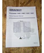 GRAVELY Promaster 144Z Owner/Operator - $12.00