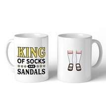 King Of Socks And Sandals Funny Design Mug Funny Fathers Day Gift - €13,18 EUR