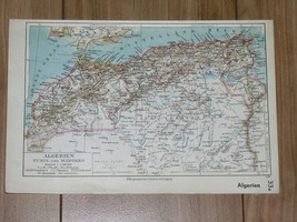 1933 ORIGINAL VINTAGE MAP OF MOROCCO TANGER TANGIER SPAIN ALGERIA SPANIS... - $11.09